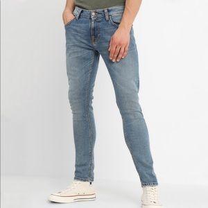 Nudies Jeans // Tight Terry in Steel Indigo Cross
